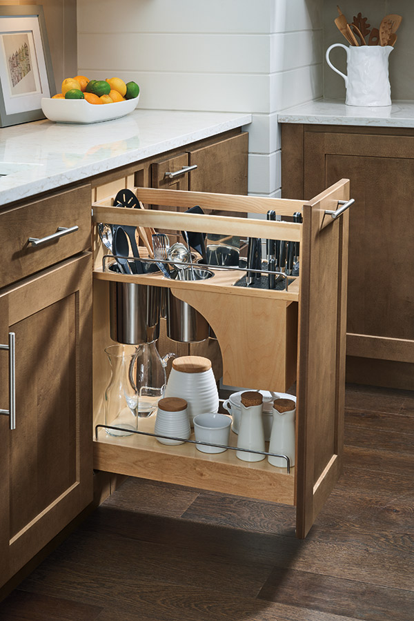 Base Cabinets Pantry Pullout Cabinet With Knife Block - Homecrest