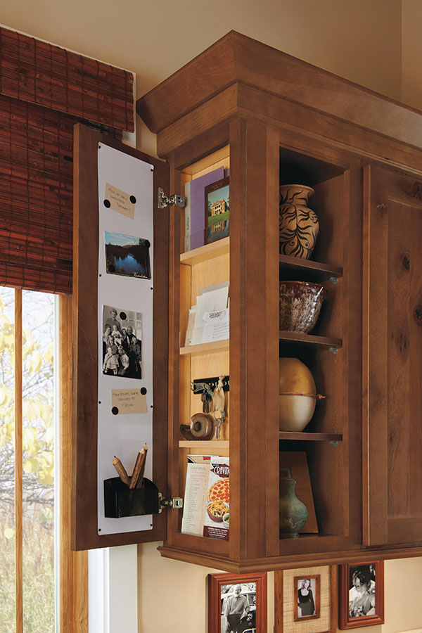 Houzz Store Wall Message Center Cabinet - Homecrest Cabinetry