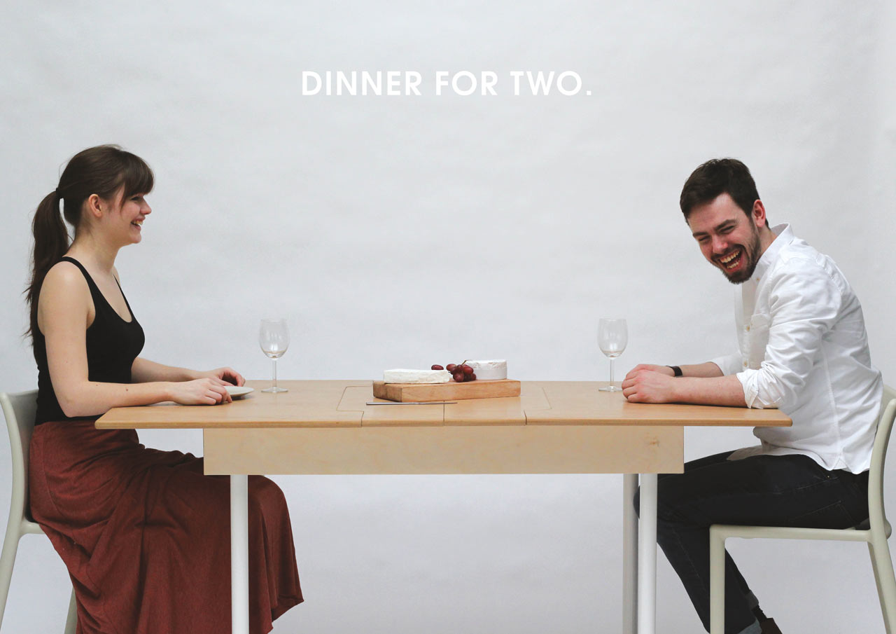 Two Person Dinner Table Table For Two Doubles As A Workstation For Two And Dining