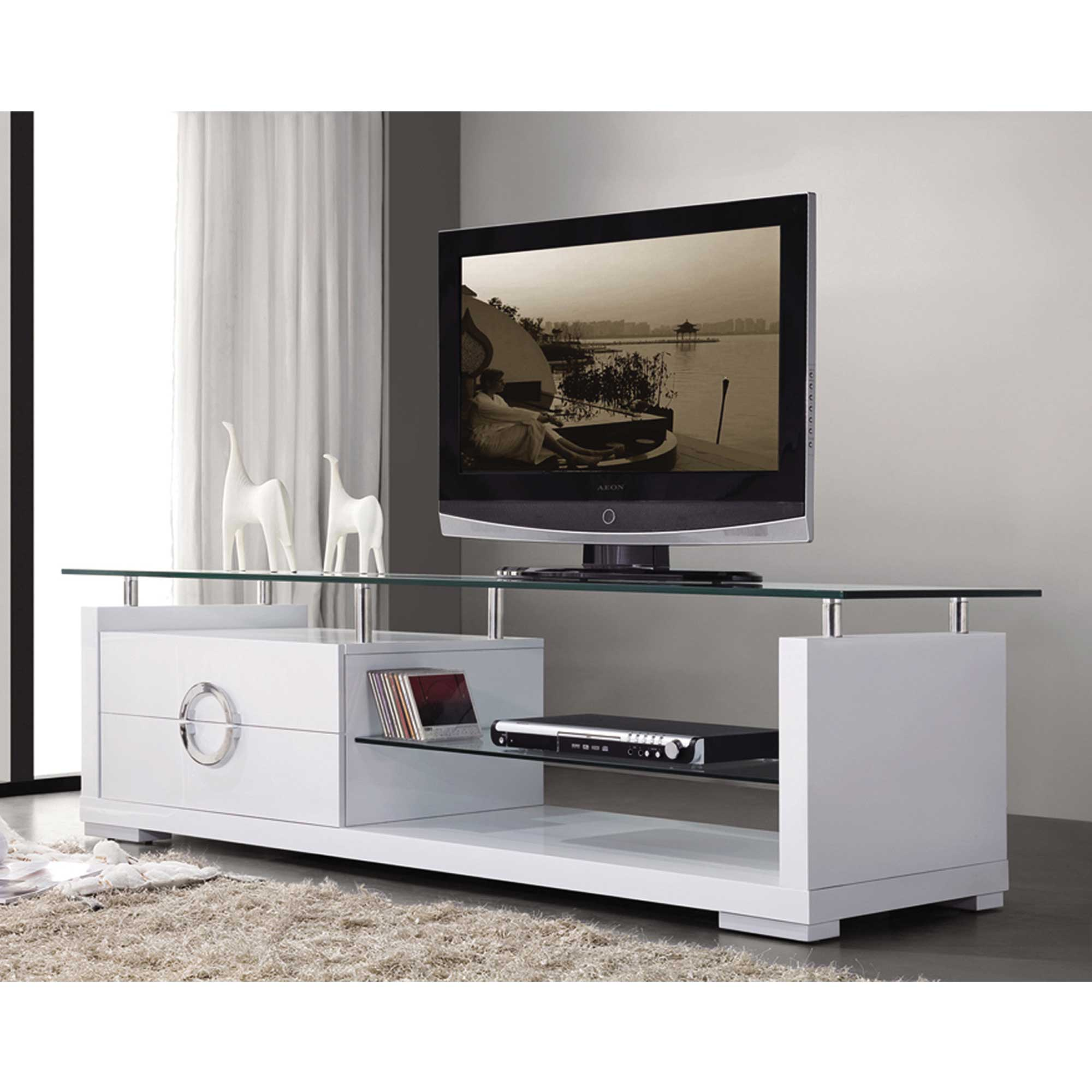 White Tv Stand Contemporary Tv Stand Home Deco