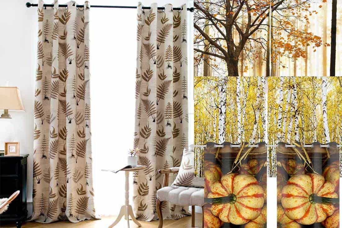 Fall Themed Curtains For The Living Room