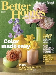 Latest Edition of BHG – Color Palette of the Year