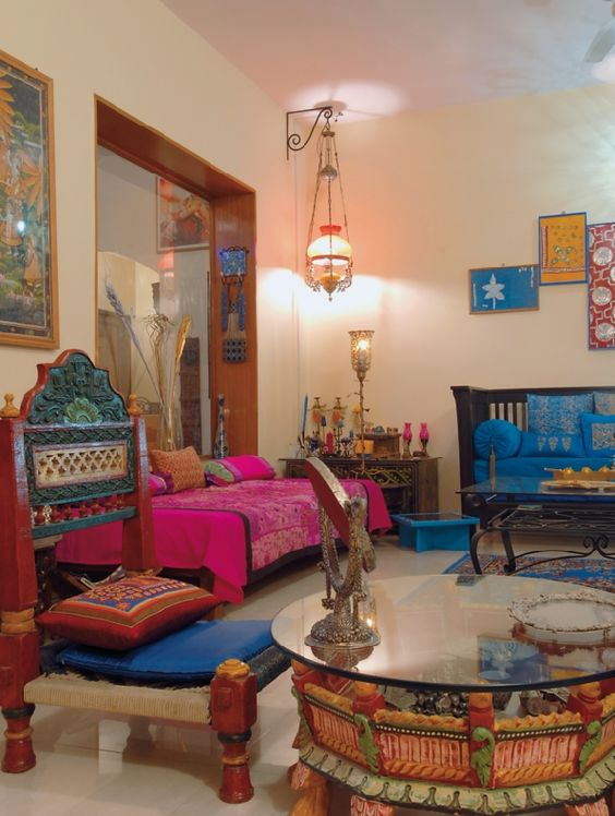 Vibrant indian homes home decor designs for Indian house decor