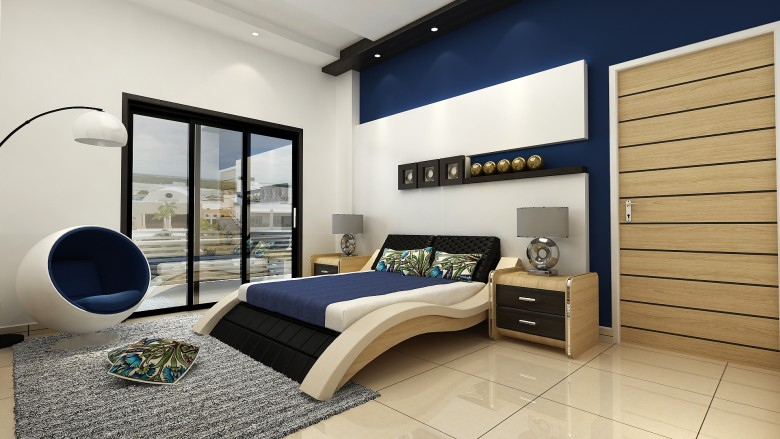 Beautiful Blue Navy Interiors for Spring Home Decor Ideas - navy blue bedroom ideas