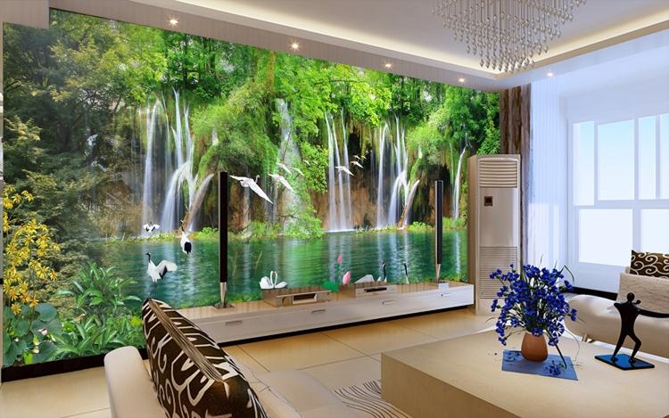 Wallpaper Dinding Pemandangan 3d Wallpapers For Living Room Design Ideas In Uk