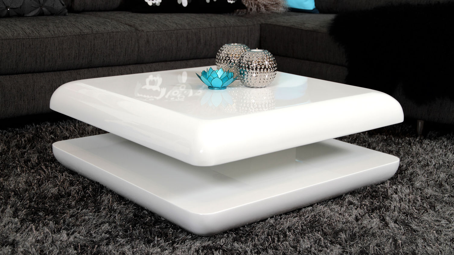 White Gloss Living Room Table