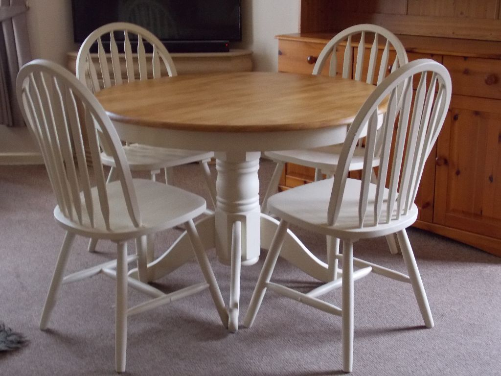 Top 50 Shabby Chic Round Dining Table And Chairs Home