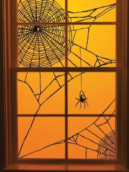 Medium Of Halloween Window Decorations