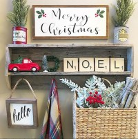 71 Incredible Rustic Farmhouse Christmas Decoration Ideas ...
