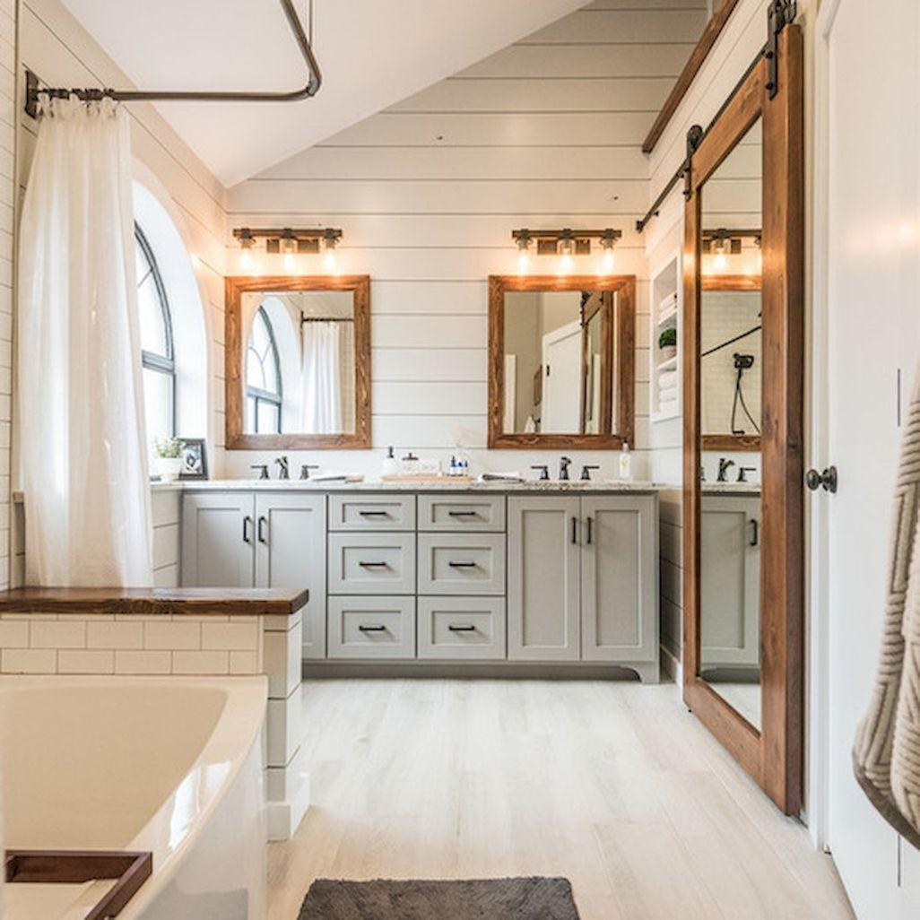 Rustic Bathroom Remodel 41 Fresh Rustic Farmhouse Master Bathroom Remodel Ideas