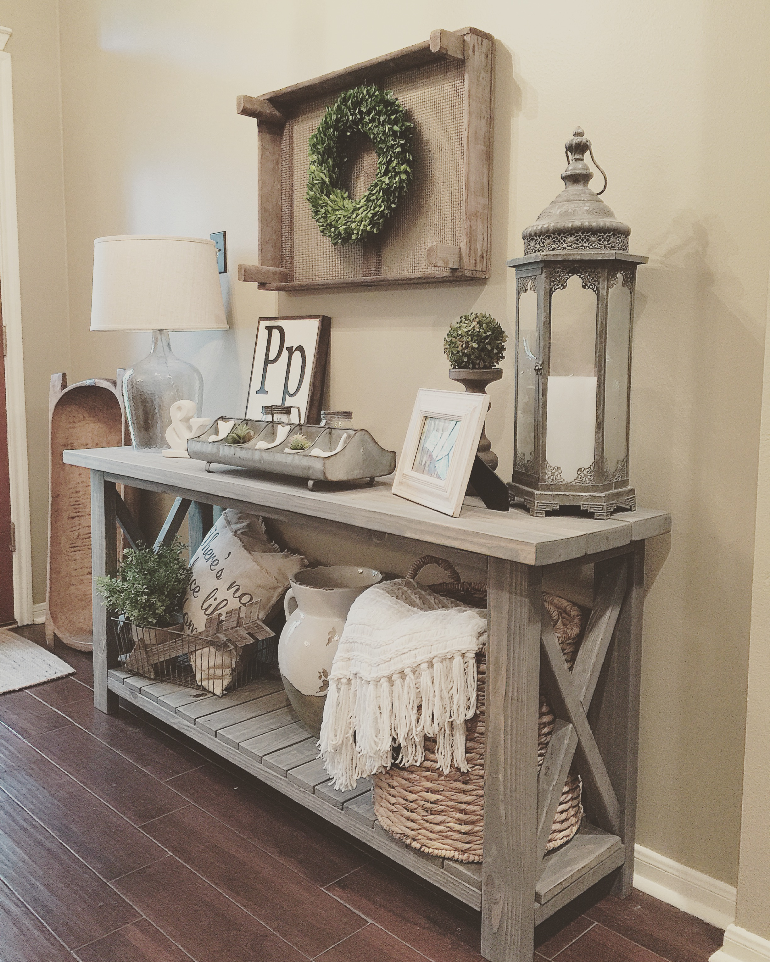 Farmhouse Console Table Diy Farmhouse Console Table
