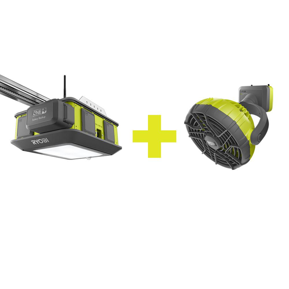 Ryobi Garage Door Fan Check Out Ryobi Ultra Quiet Garage Door Opener With Fan Accessory Shopyourway