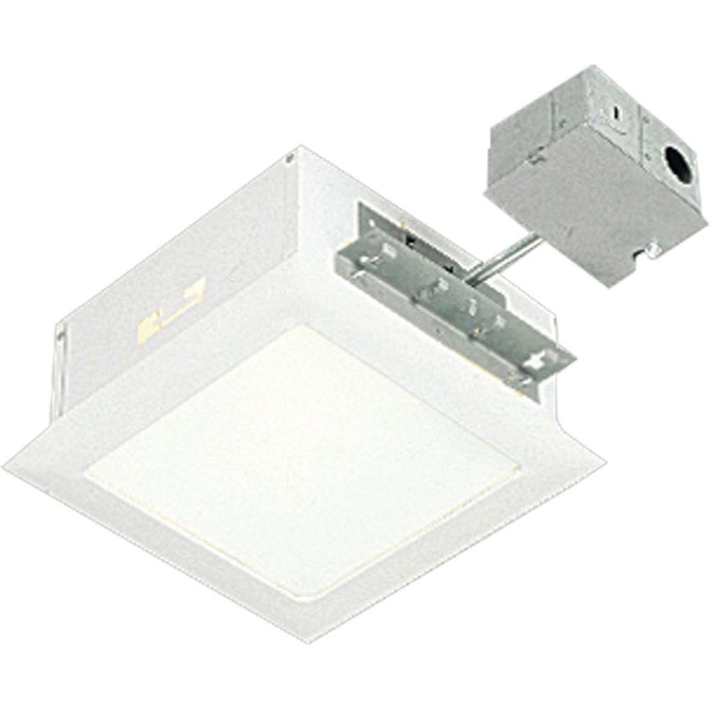 Home Depot Juno Led Lighting Progress Lighting 9.5 In. White Square Recessed Lighting