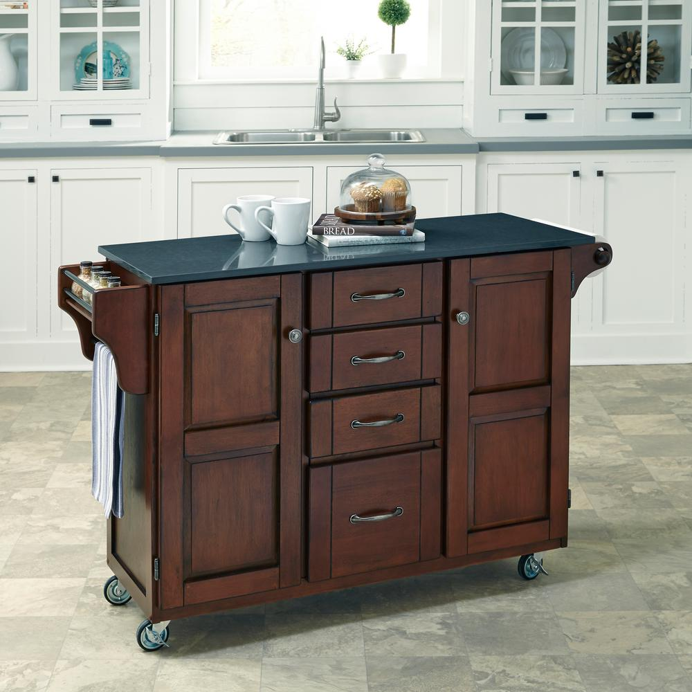 Aspen Rustic Cherry Kitchen Island Home Styles Aspen Rustic Cherry Kitchen Island With