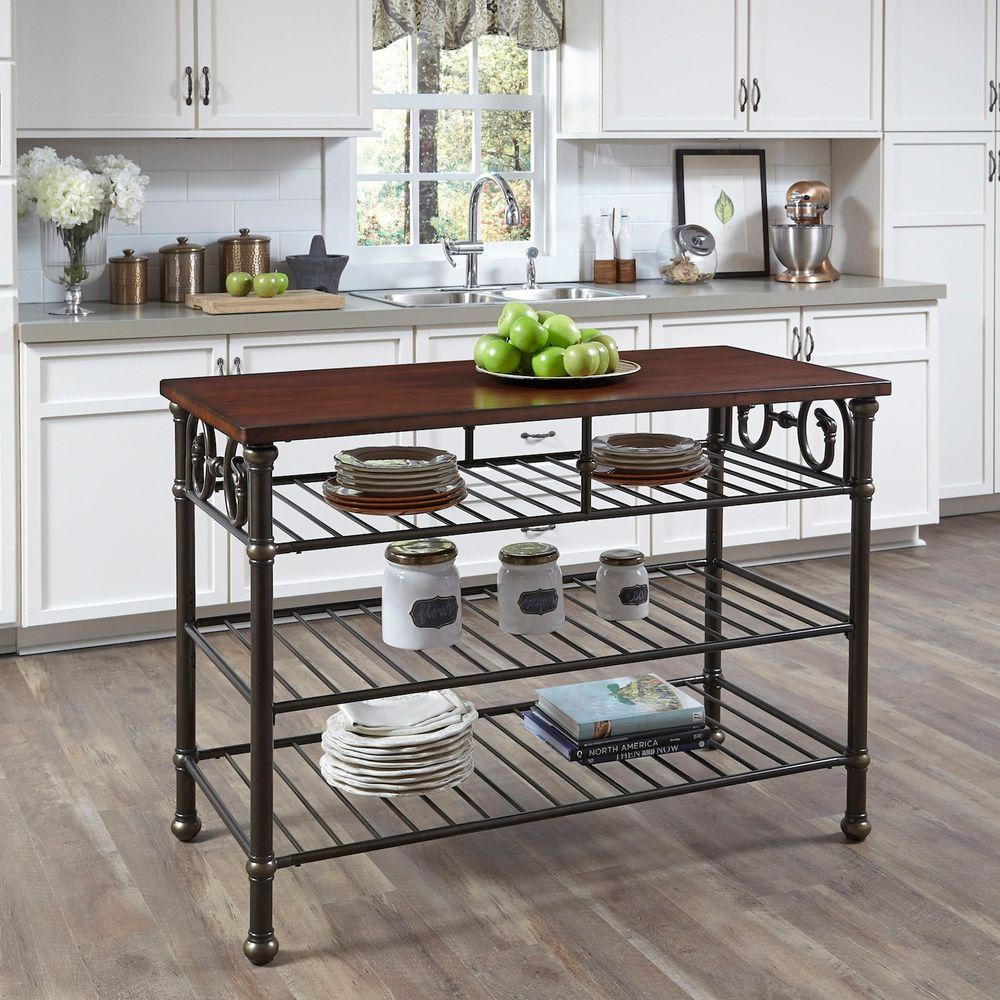 Aspen Rustic Cherry Kitchen Island Home Styles Nantucket Kitchen Island In Distressed White