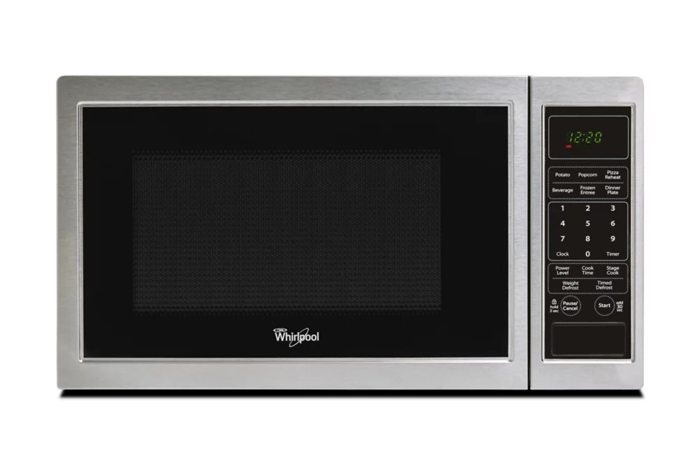 Whirlpool 9 Cu Ft Countertop Microwave In Stainless Steel The Home Depot Canada