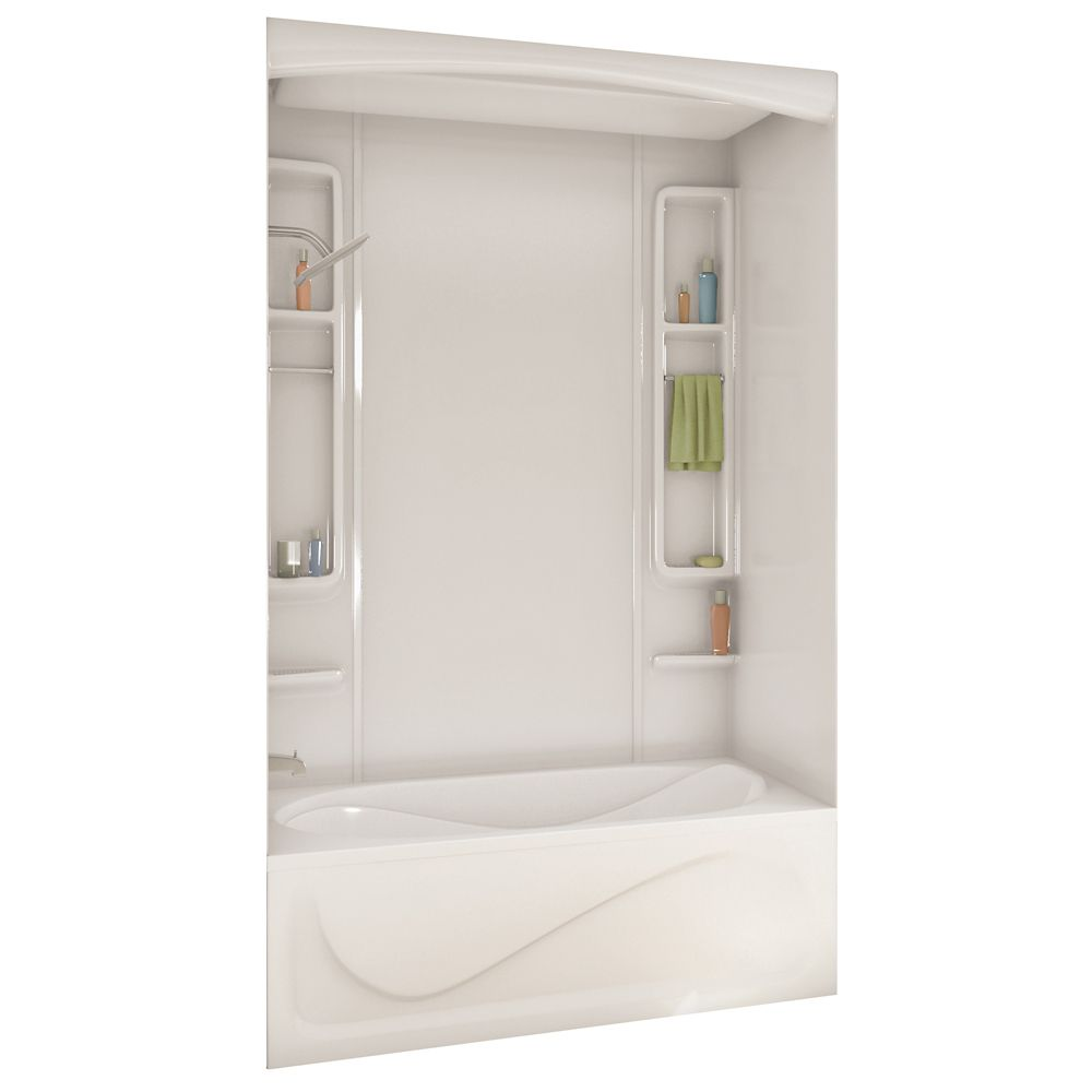 Maax White Alaska Acrylic Tub Or Shower Wall Kit 80 Inches The Home Depot Canada
