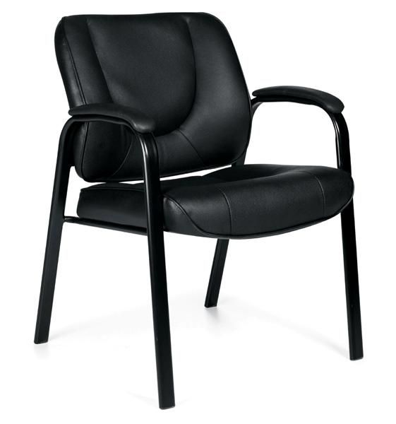 Offices To Go Leather Guest Chair Black The Home Depot Canada