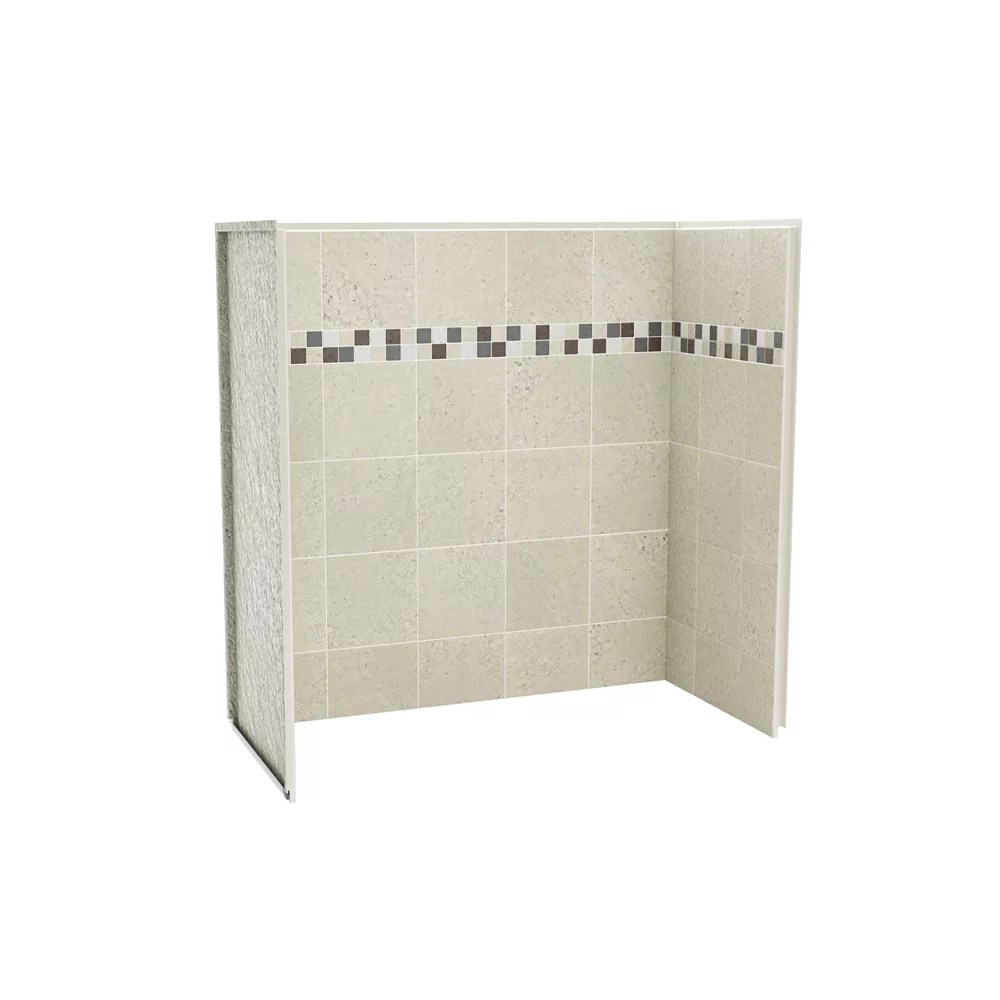 Maax Utile 60 Inch X 30 Inch X 60 Inch Stone Sahara Tub Shower Wall Kit 3 Panels Kit The Home Depot Canada