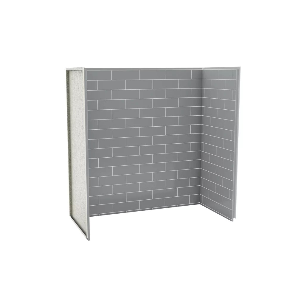 Maax Utile 60 Inch X 30 Inch X 60 Inch Metro Ash Grey Tub Shower Wall Kit 3 Panels Kit The Home Depot Canada