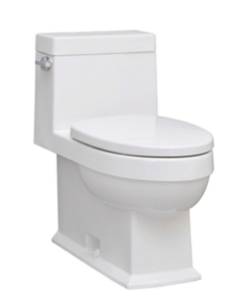 Icera The Karo 1 Piece Single Flush Elongated Bowl Toilet In White The Home Depot Canada