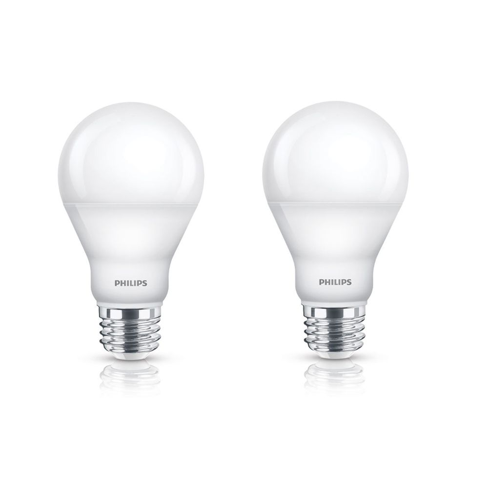 Philips 60w Equivalent Warm Glow 2700k 2200k A Line A19 Led Light Bulb 2 Pack The Home Depot Canada