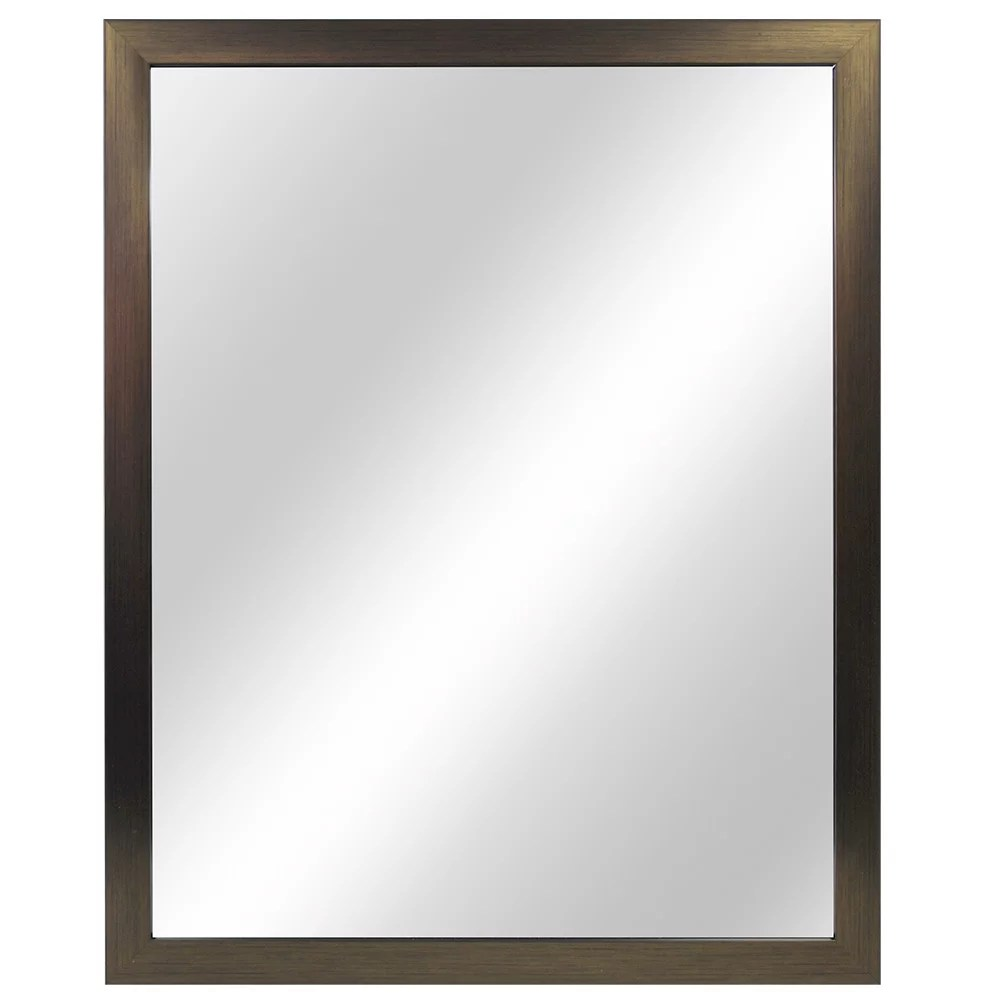 Home Decorators Collection 24 Inch W X 30 Inch L Framed Fog Free Wall Mirror In Oil Rubbed The Home Depot Canada