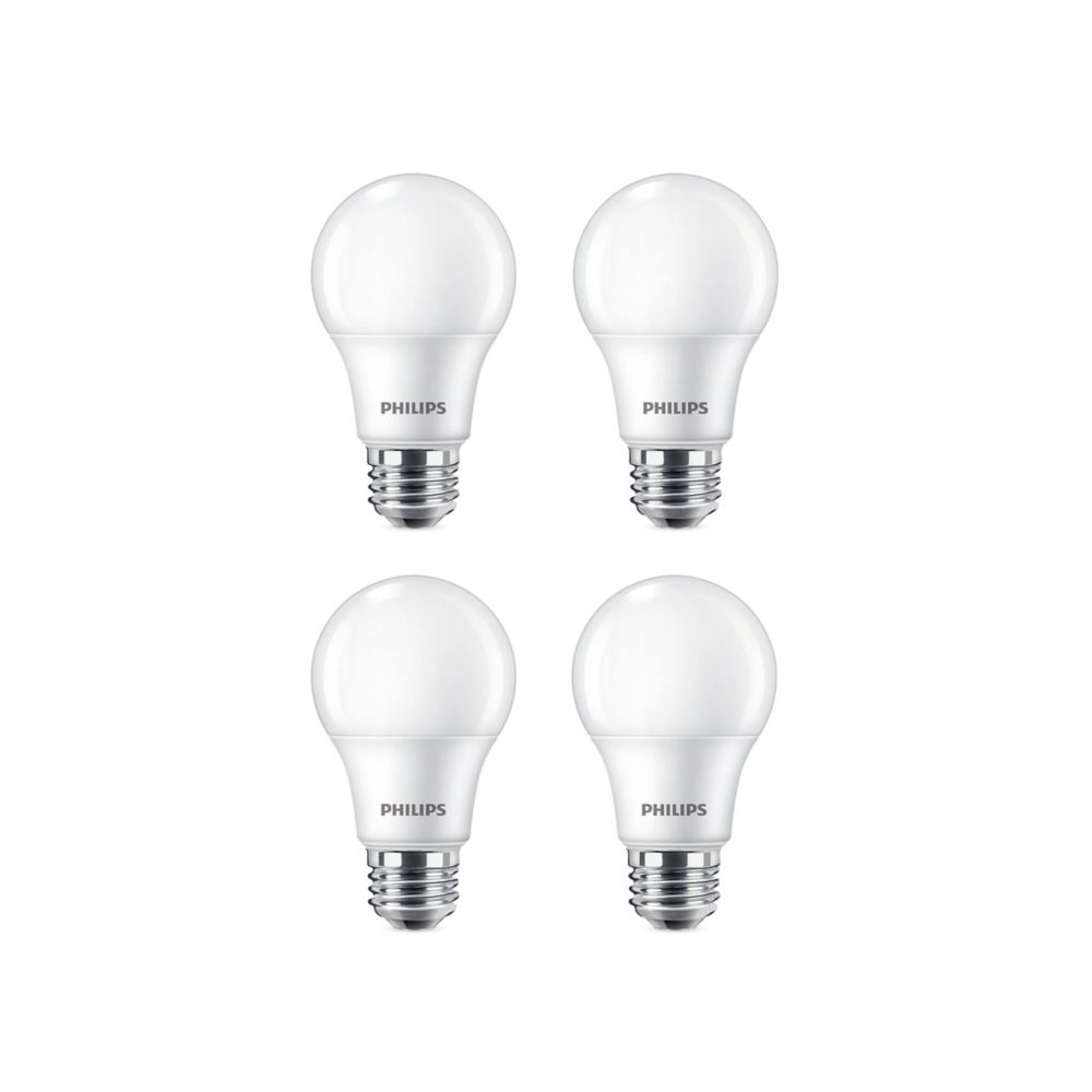 Philips 9w 60w Soft White A19 Led Light Bulb 4 Pack The Home Depot Canada