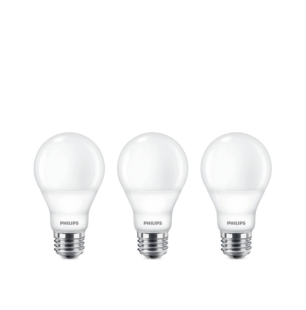 Philips 60w Equivalent Soft White 2700k A19 Led Light Bulb 3 Pack The Home Depot Canada