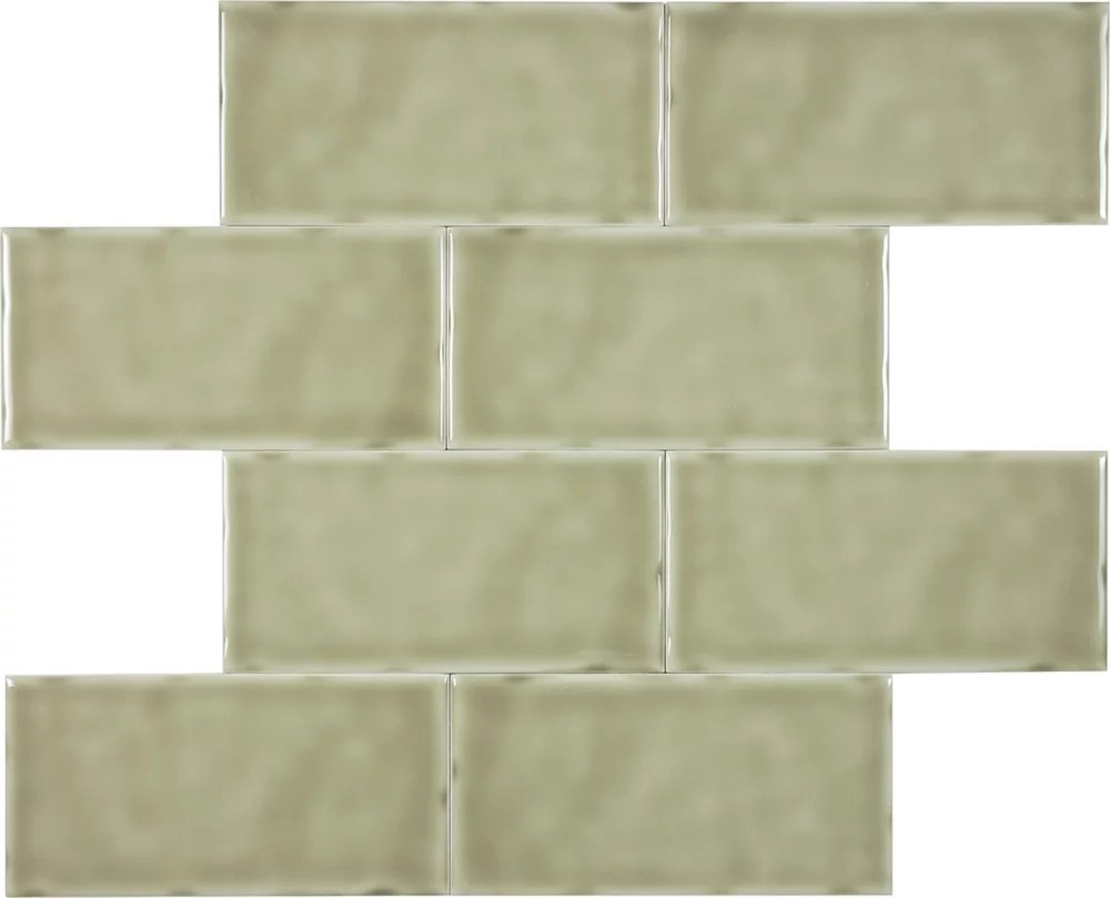 Enigma 305299 3x6 Wolfe Creek Sage Carrelage Mural Home Depot Canada
