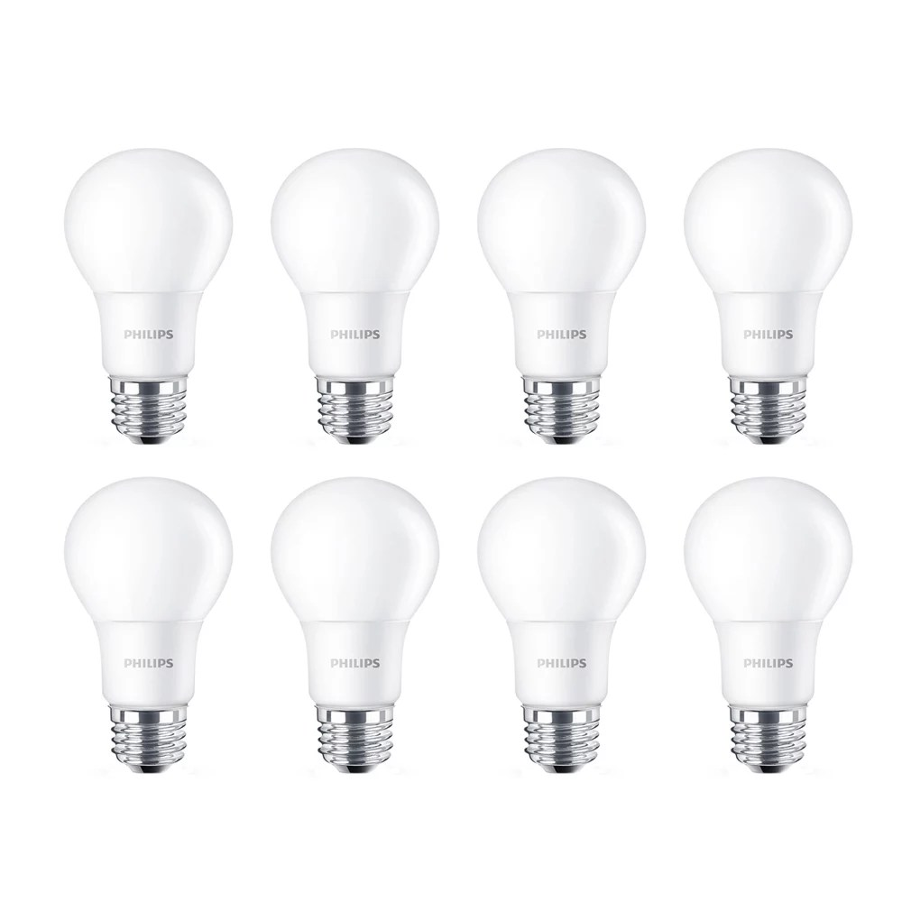 Philips 40w Equivalent Soft White 2700k A19 Led Light Bulb 8 Pack The Home Depot Canada
