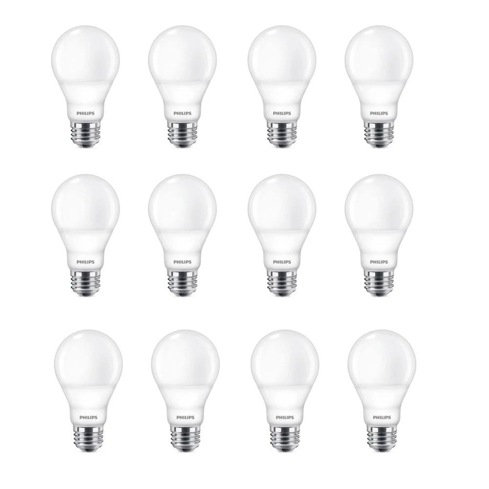 Philips 60w Equivalent Daylight 5000k A19 Led Light Bulb Energy Star 12 Pack The Home Depot Canada