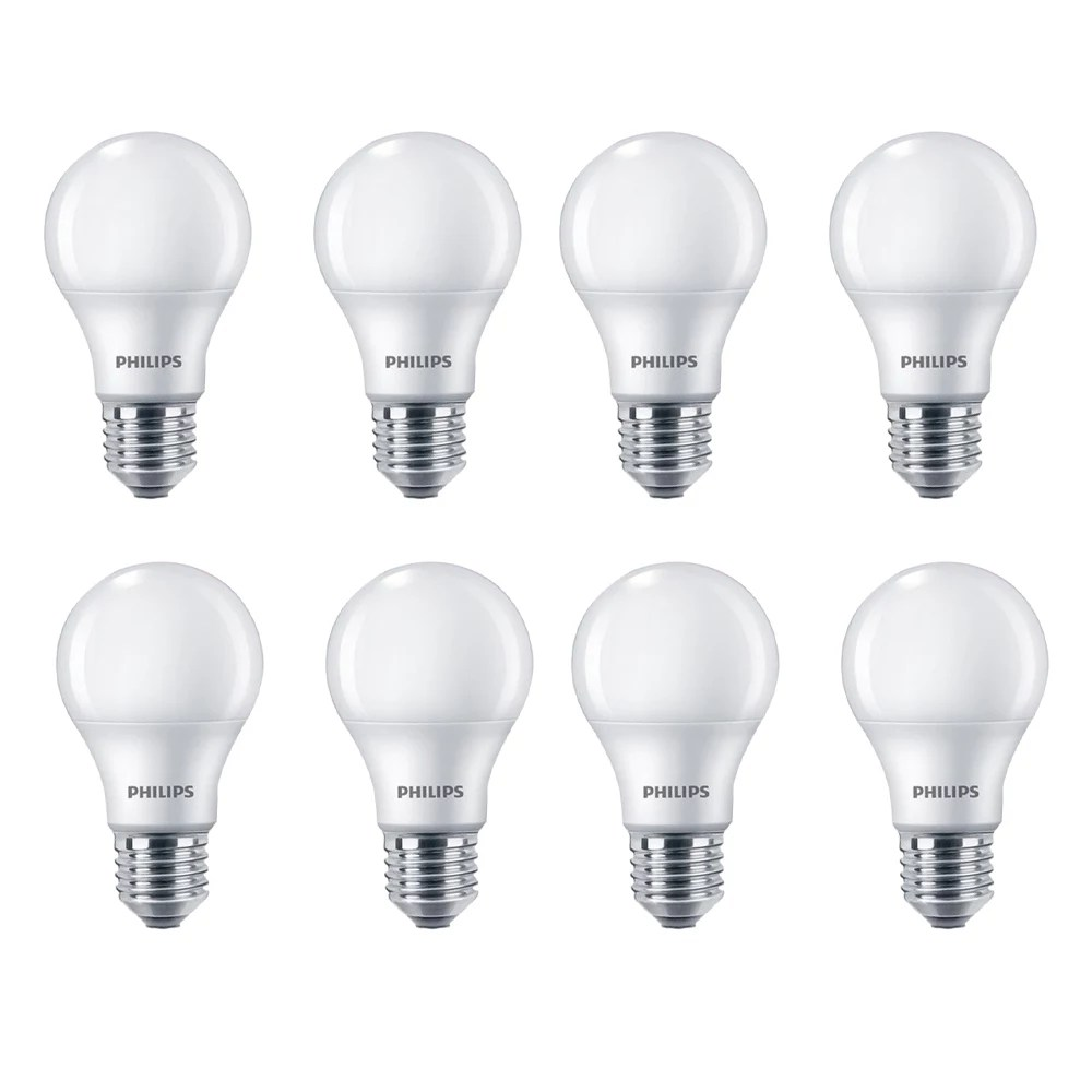 Philips 100w Equivalent Soft White 2700k A19 Led Light Bulb 8 Pack The Home Depot Canada
