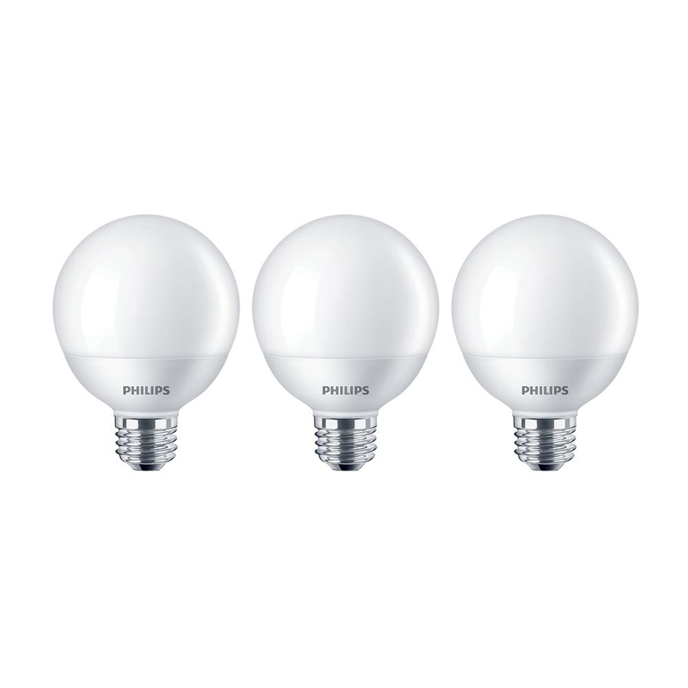 Philips 40w Equivalent Soft White 2700k G25 Led Light Bulb Energy Star 3 Pack The Home Depot Canada