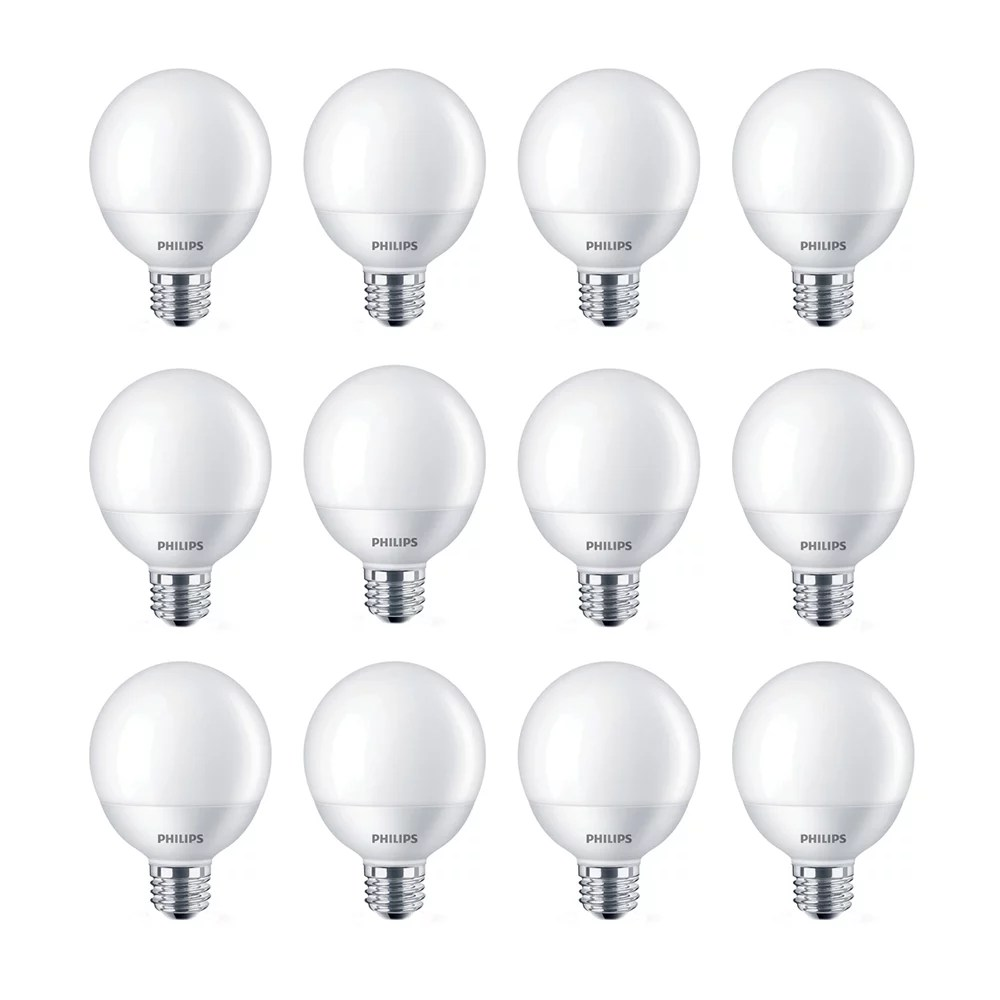 Philips 6 5w60w Soft White G25 Led Light Bulb 12 Pack The Home Depot Canada