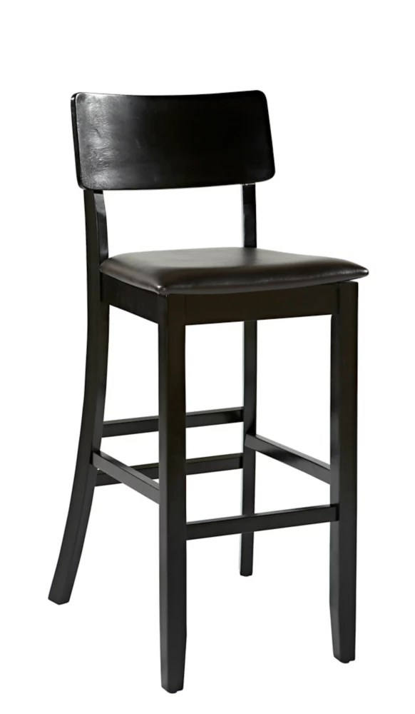 Linon Home Decor Tabouret De Bar Contemporain En Bois Dur Noir Home Depot Canada