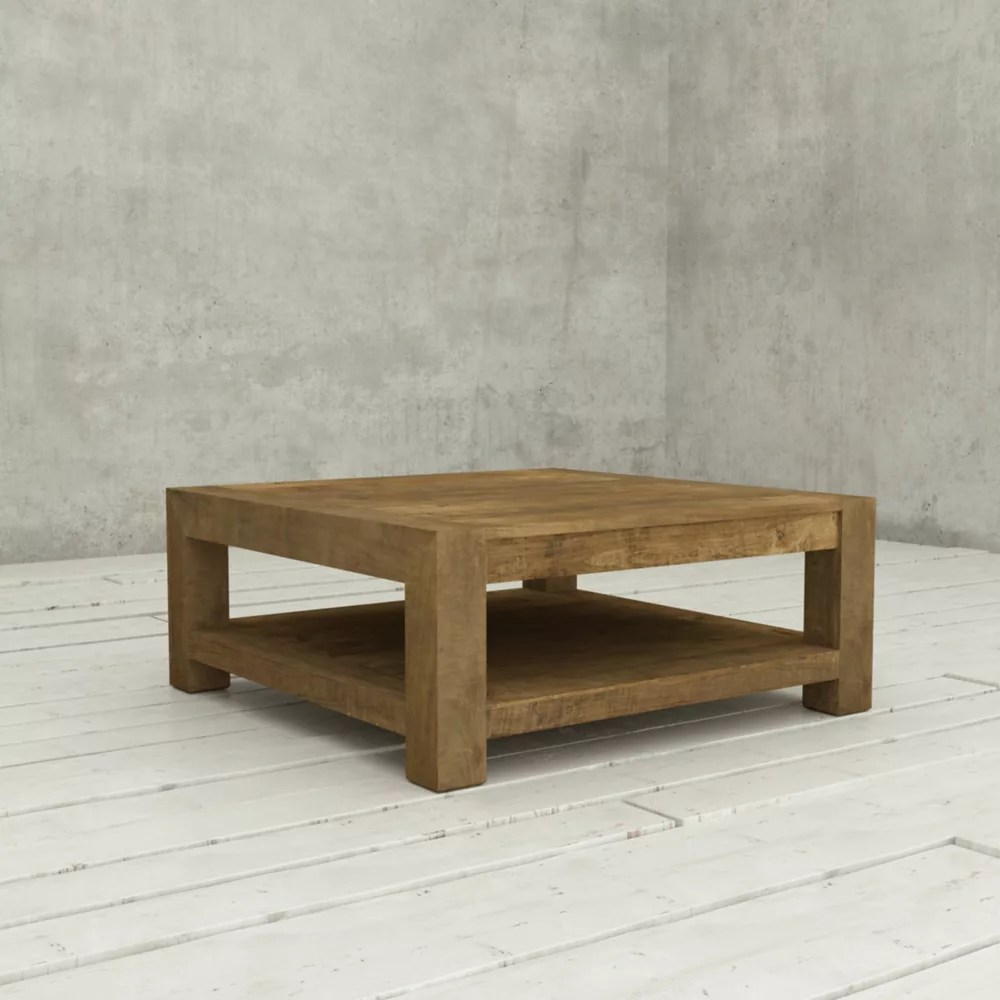 Urban Woodcraft Table De Salon Transitionnelle 40 Po Villa Bois Naturel Home Depot Canada