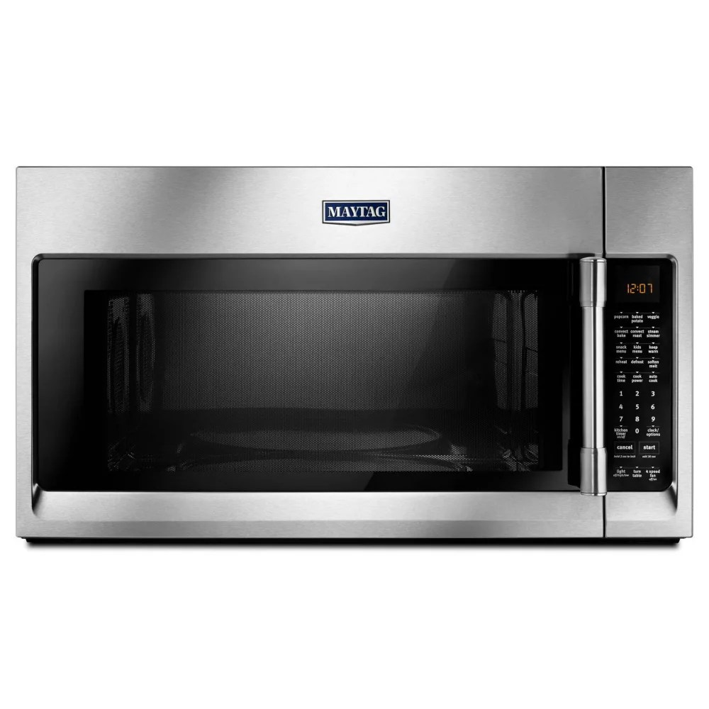 Maytag 1 9 Cu Ft Over The Range Convection Microwave In Fingerprint Resistant Stainless The Home Depot Canada