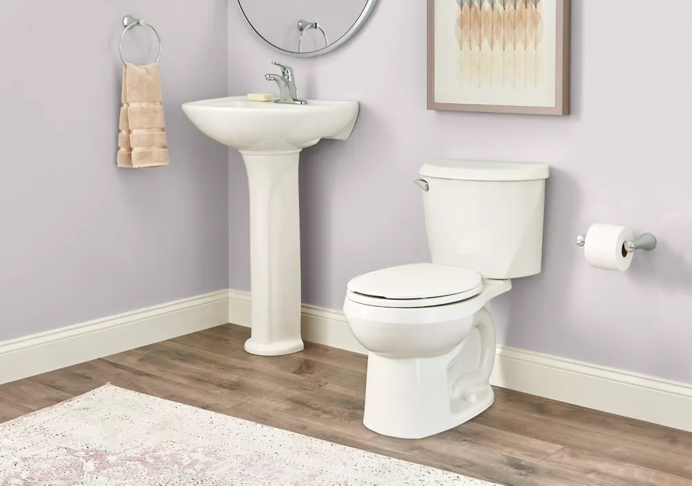 American Standard Reliant 4 8 Lpf 1 28 Gpf Single Flush Round Front Toilet In White The Home Depot Canada