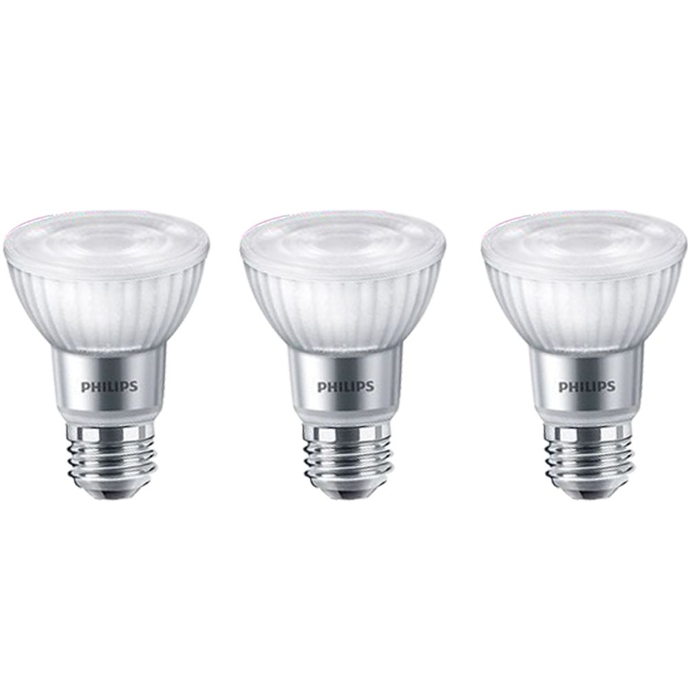 Philips 50w Equivalent Daylight Par20 Dimmable Led Light Bulb 3 Pack Energy Star The Home Depot Canada