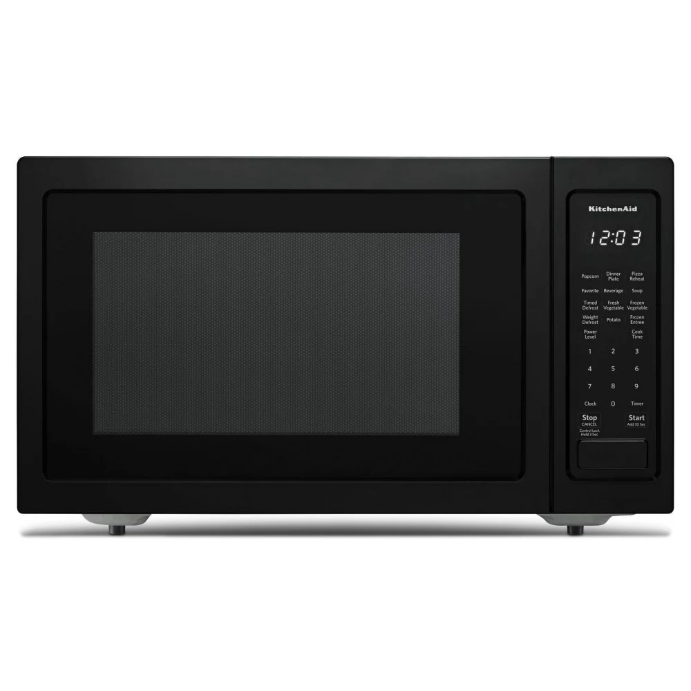 Kitchenaid 1 5 Cu Ft Countertop Convection Microwave In Printshield Black Stainless Stee The Home Depot Canada