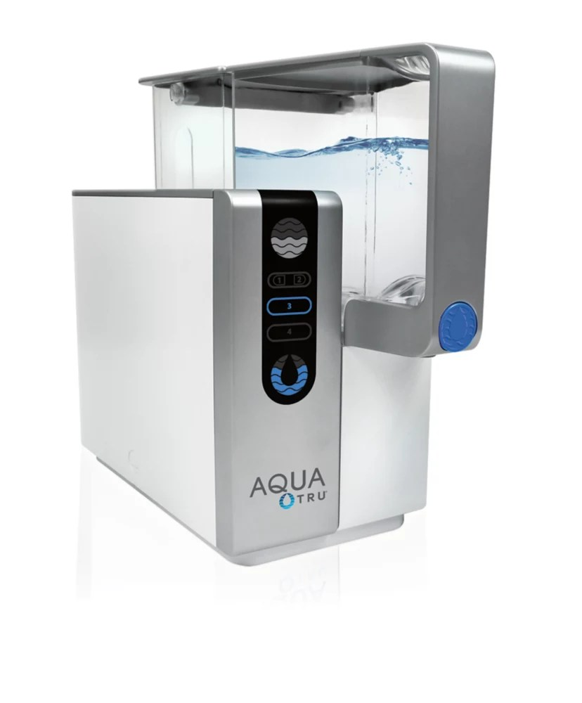 Aquatru 4 Stage Reverse Osmosis Counter Top Water Purifier The Home Depot Canada