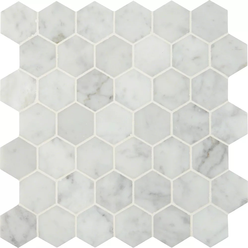 Msi Stone Ulc Carrara White Hexagon 12 Inch X 12 Inch Marble Mesh Mounted Mosaic Tile 10 The Home Depot Canada