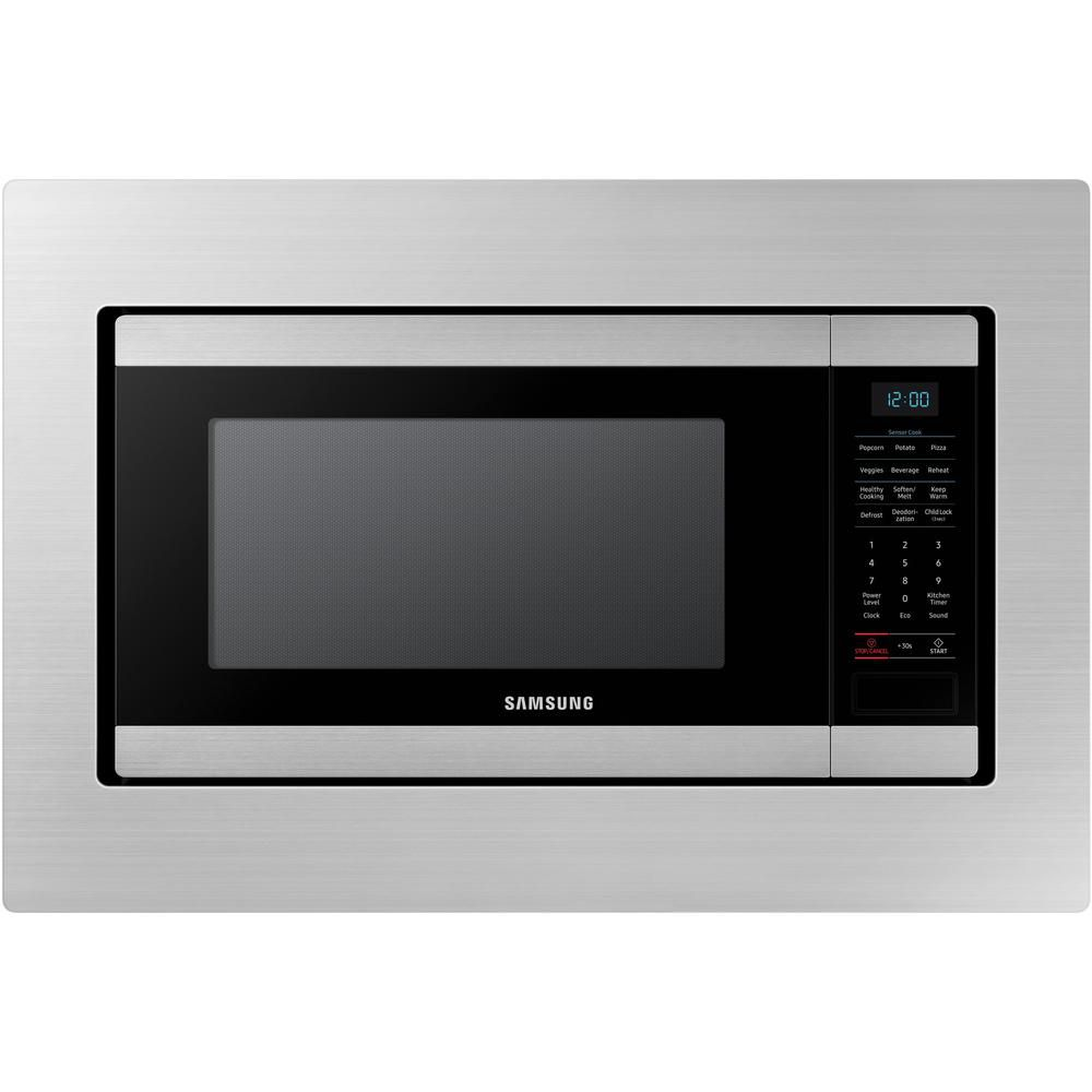 Samsung 29 8 Inch Trim Kit Countertop Microwave In Stainless Steel The Home Depot Canada