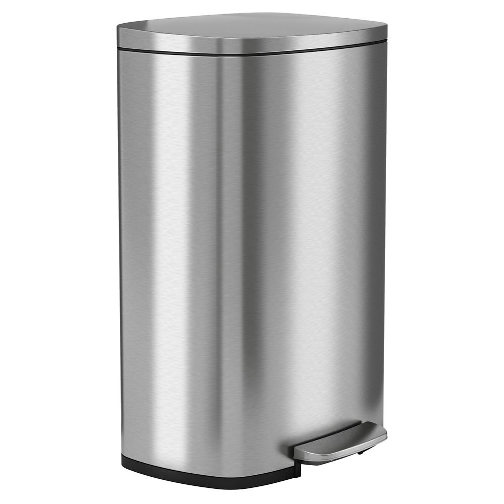 Halo 50 L 13 2 Gal Premium Stainless Steel Step Trash Can The Home Depot Canada