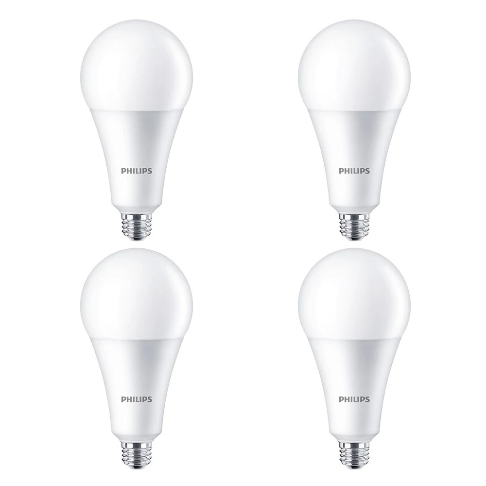 Philips 160W Equivalent High Lumen Daylight Deluxe (6500K) A30 LED Light Bulb (4-Pack) | The Home Depot Canada