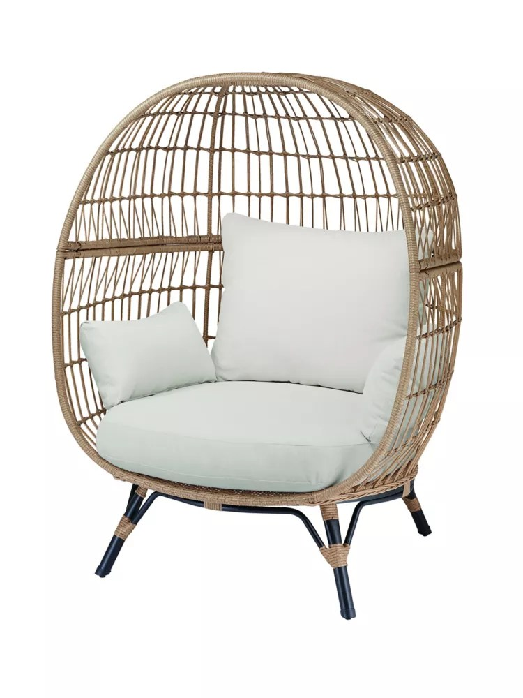 Hampton Bay Cayman Woven Egg Patio Chair The Home Depot Canada