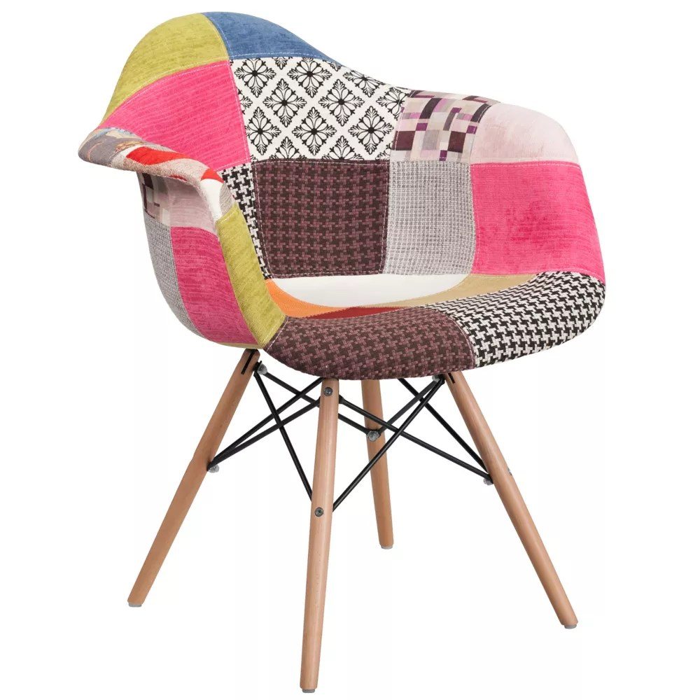 Flash Furniture Chaise De La Série Alonza En Tissu à Patchwork De - Chaise Tissu