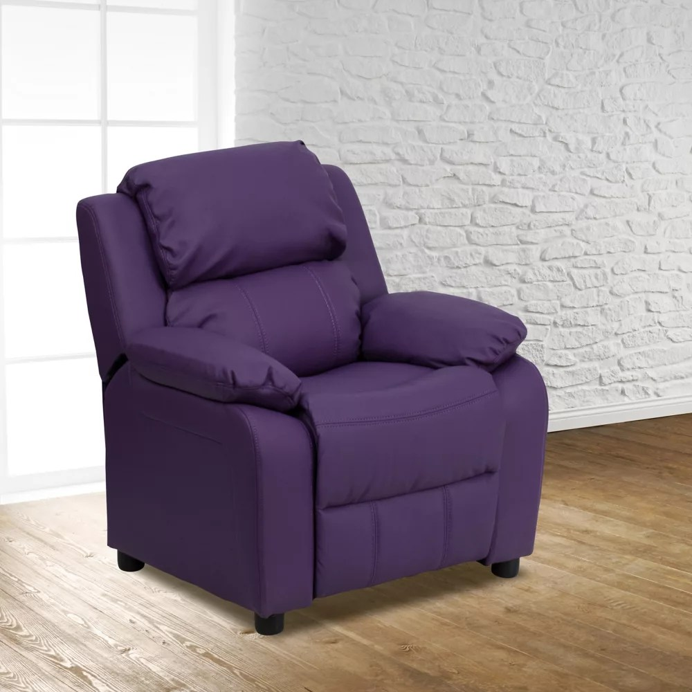 Flash Furniture Fauteuil Inclinable Pour Enfants En Vinyle Violet Home Depot Canada