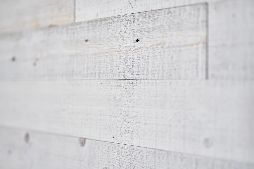 Barn Wall White Wash Barn Board Wall Panels In Varying Sizes 16 Sq Ft Case The Home Depot Canada